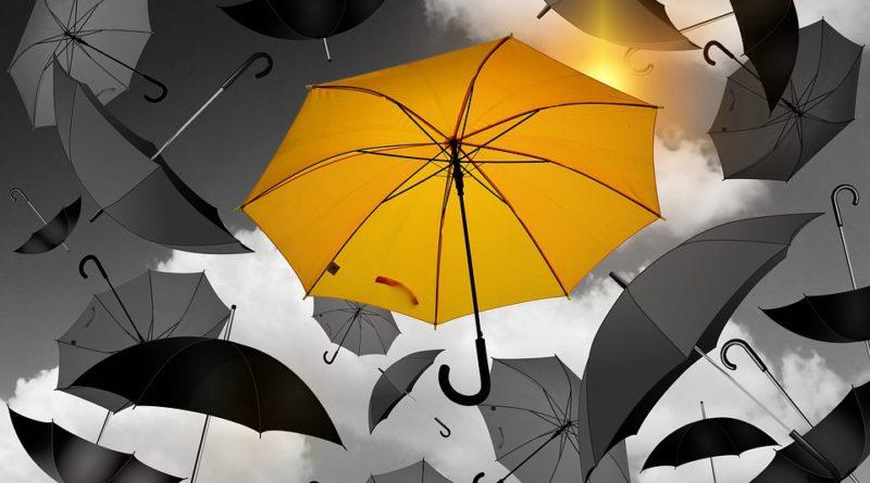 Deštník jako doplňek